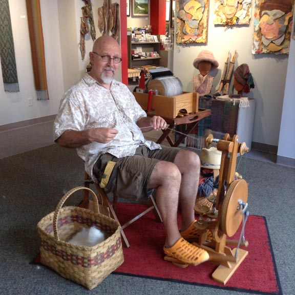 Art by Gary Olds on display in the Copper Country Community Arts Center's Kerredge Gallery