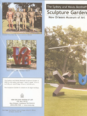 Sydney and Walda Besthoff Sculpture Garden Brochure and Map of the Garden