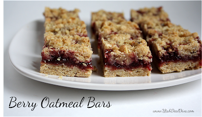 Healthified Berry Oatmeal Bars Utah Deal Diva healthy snacks treats dessert