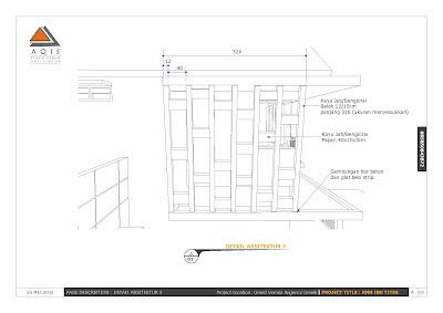 Desain dari aqis studio memberikan gbr detail arsitektur dlm bentuk 3d