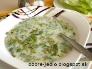 Šalátová polievka - recept