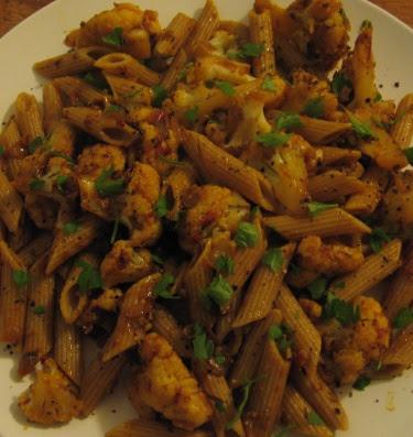 Cauliflower and olive pasta
