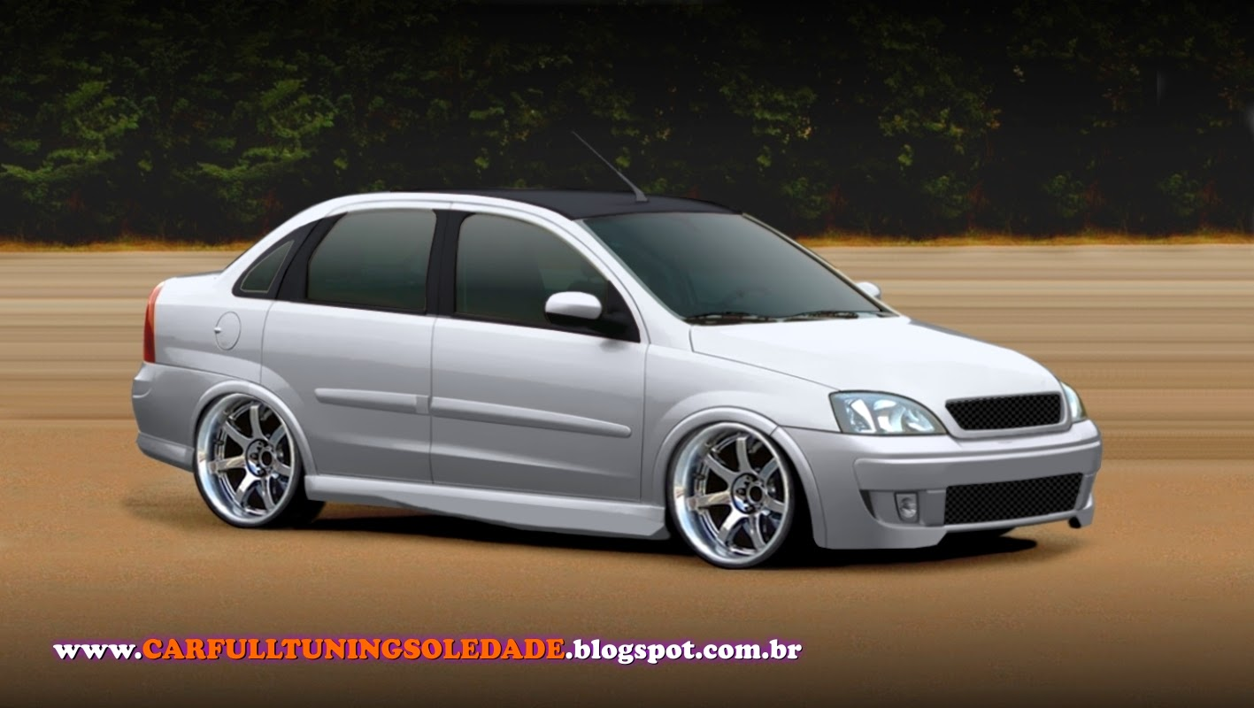 Car Full Tuning Soledade Chevrolet Corsa Sedan Shaved