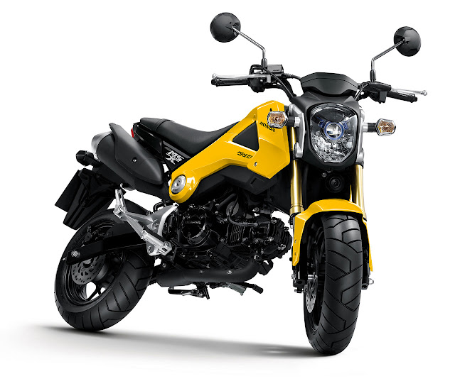 Honda MSX125 Motorcycle yellow