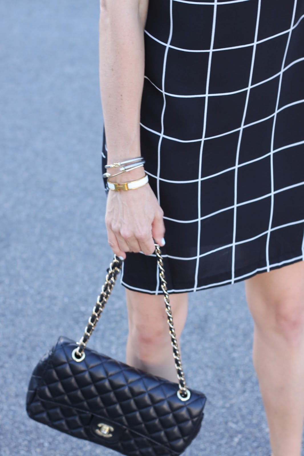 black chanel and white hermes