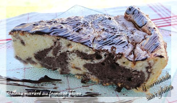 Gateau au chocolat blanc sans blanc en neige