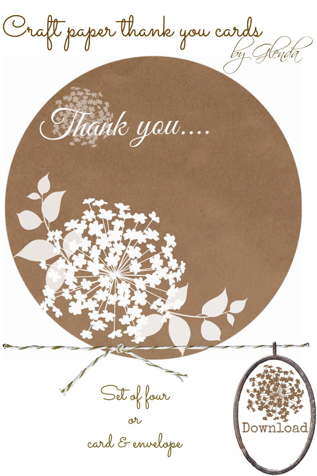 Download Brown Craft Paper thank you