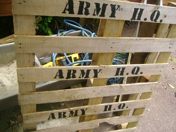 Great fun etc army party prep stencil tutorial free for Army party decoration