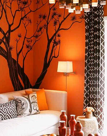 Living Room Design Orange Living Room Design Ideas