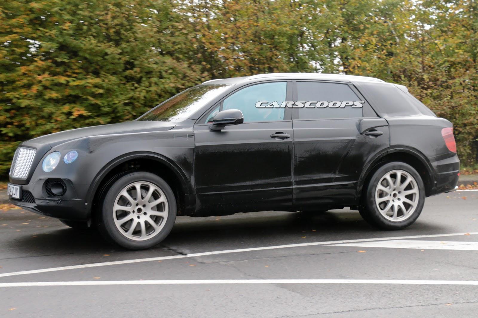 Bentley S 2017 Suv Spied Testing With 6 0 Liter W12 Engine