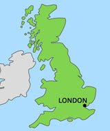 Map of London in UK