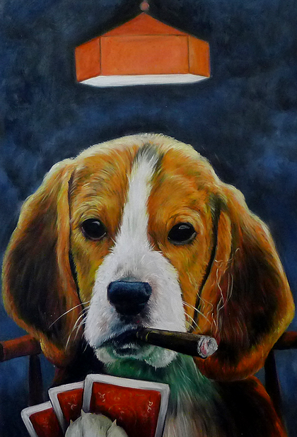 08-The-Poker-Player-Splendid-Beast-Your-Animal-Friend-on-an-Oil-Painting-www-designstack-co