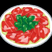 マグロのカルパッチョのイラスト
