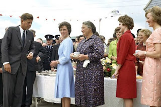 JFK pictured during his 1963 visit to the Kennedy Homestead in Wexford