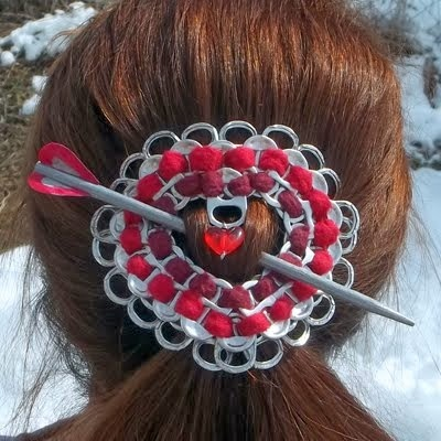 Pop Tab Art Hairpiece by Miel Jolie