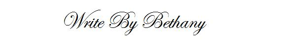 Write By Bethany