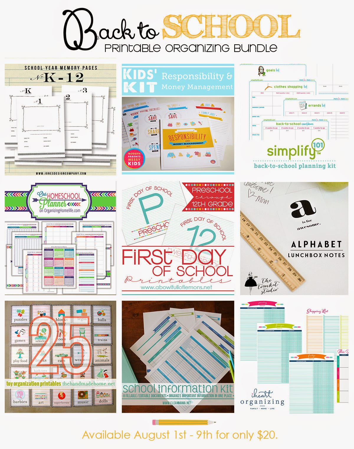 Amazing back to school printables :: OrganizingMadeFun.com