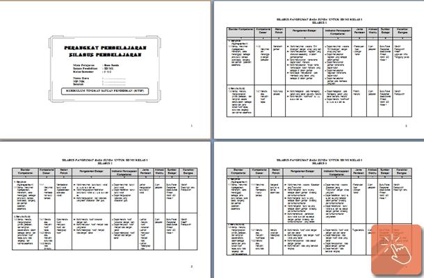 Perangkat Pembelajaran Bahasa Sunda Kelas 1 2 3 4 5 6 SD MI