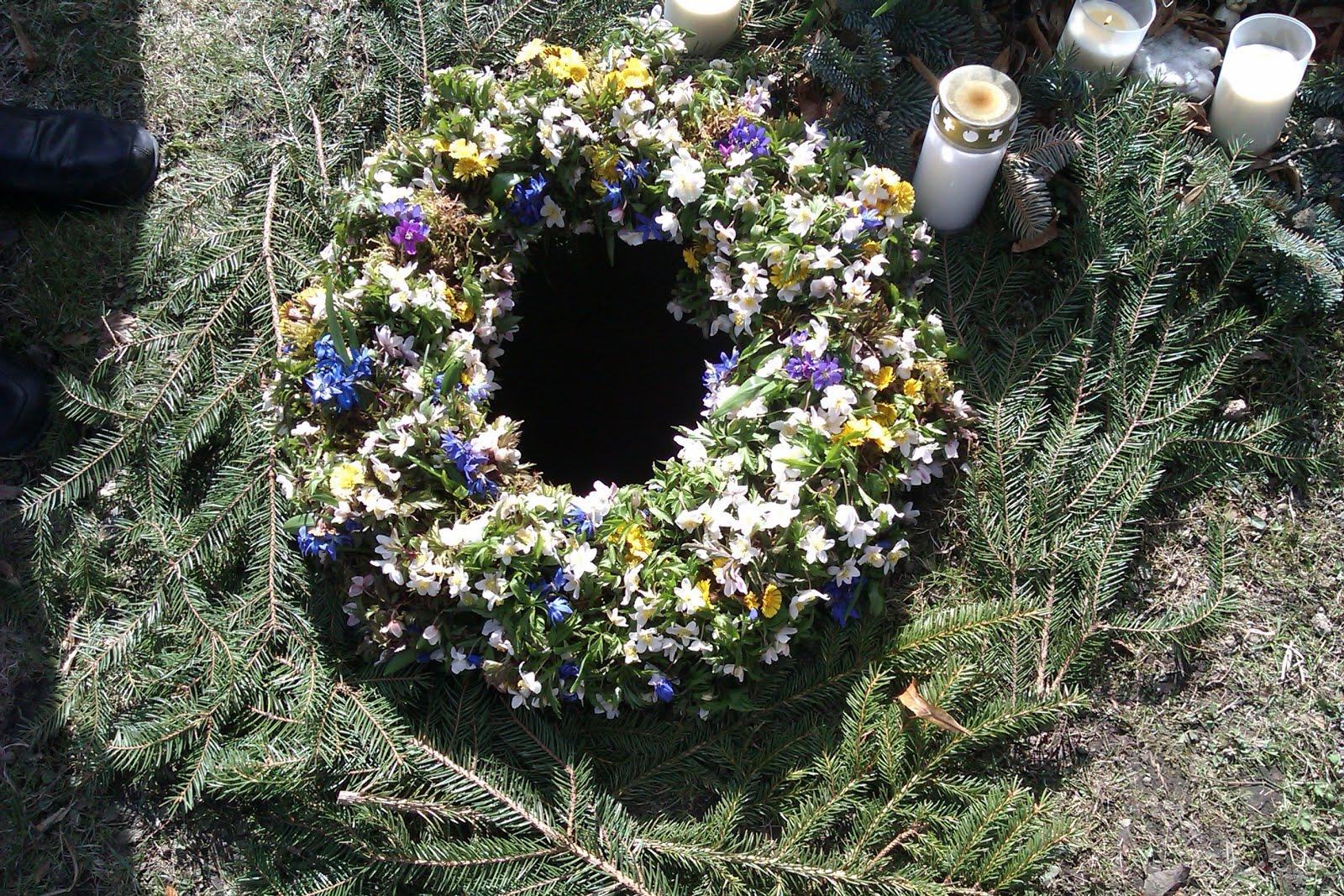 ska man ha blommor vid urnsättning