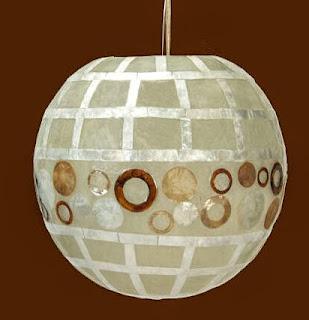 Lampara nacar globo, lampara decorativa nacar