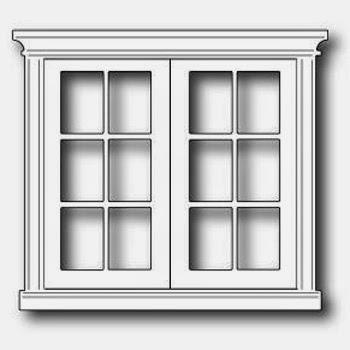 Poppystamps Die Grand Madison French Doors die