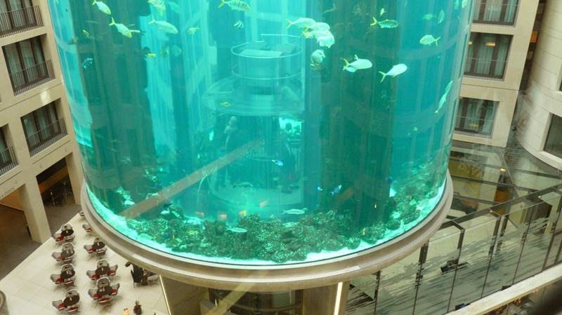 Giant aquarium inside Radisson SAS, Berlin