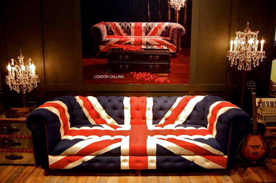 Mix And Chic: Union Jack Inspired Furniture And Home Furnishings.
