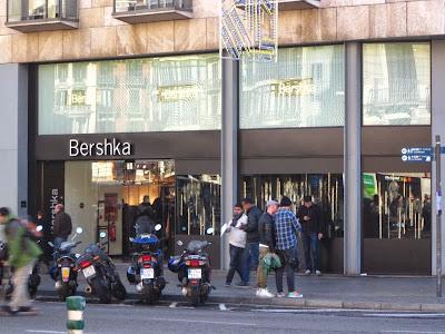 Bershka store in Barcelona