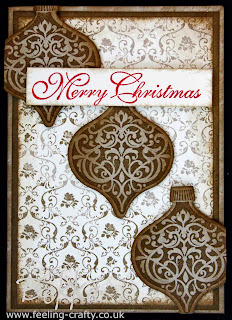 Ornament Keepsakes Christmas card - visit www.bekka.stampinup.net & save 25% this stamp set until 28 October 2013