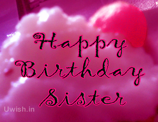 Happy Birthday sister with cherry cakes  Happy birthday to sister e greeting cards and wishes.
