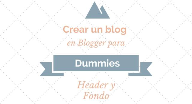 blog para dummies header y fondo
