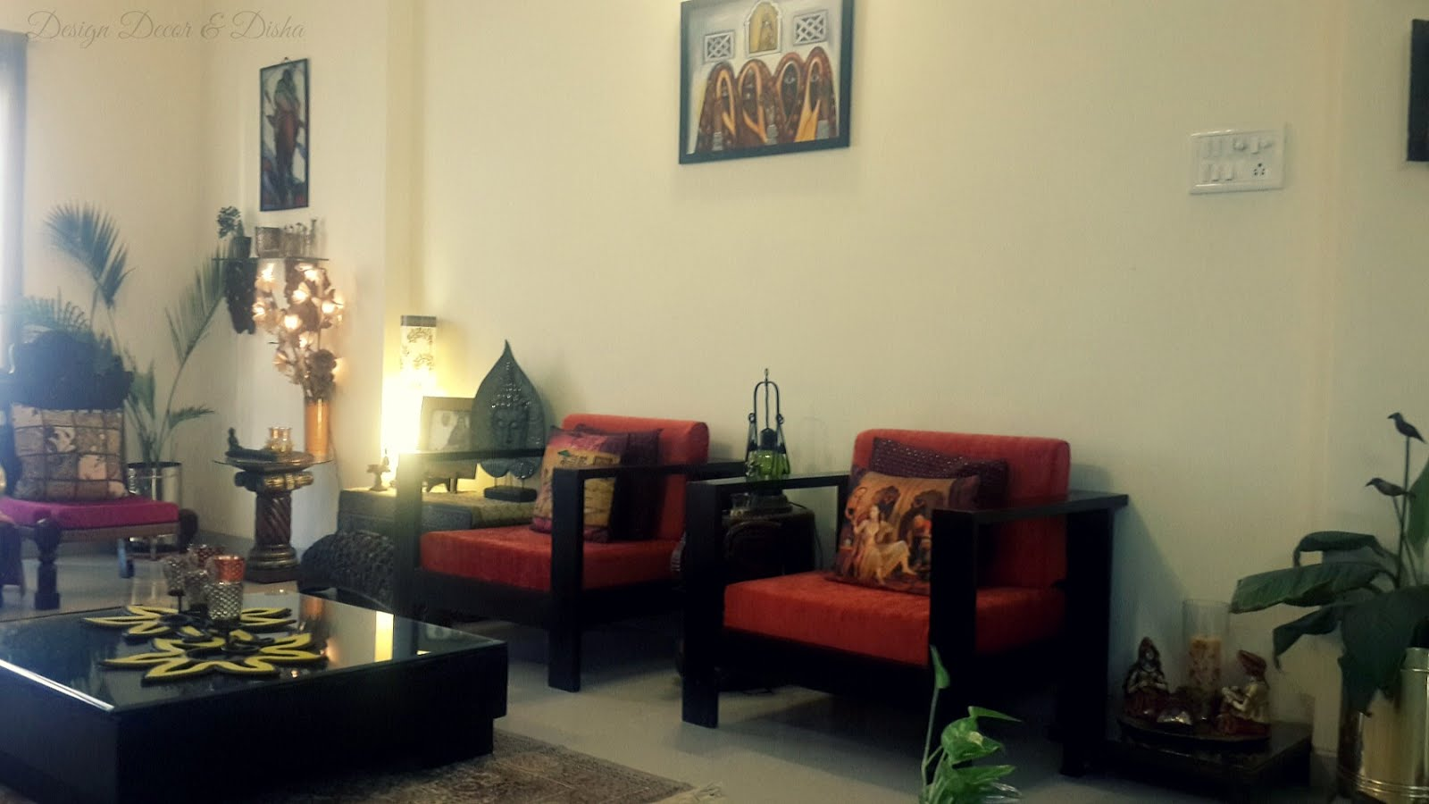 Design decor disha an indian design decor blog home for Interior of indian living room