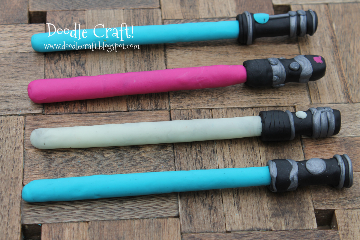 Doodlecraft: DIY Lightsaber Pens! for How To Make A Lightsaber For Kids  111ane