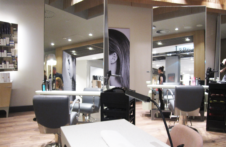 Beauty on location beauty john lewis birmingham review for Hair salon birmingham
