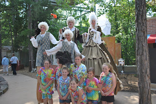 Stiltwalkers at Silver Dollar City World-Fest