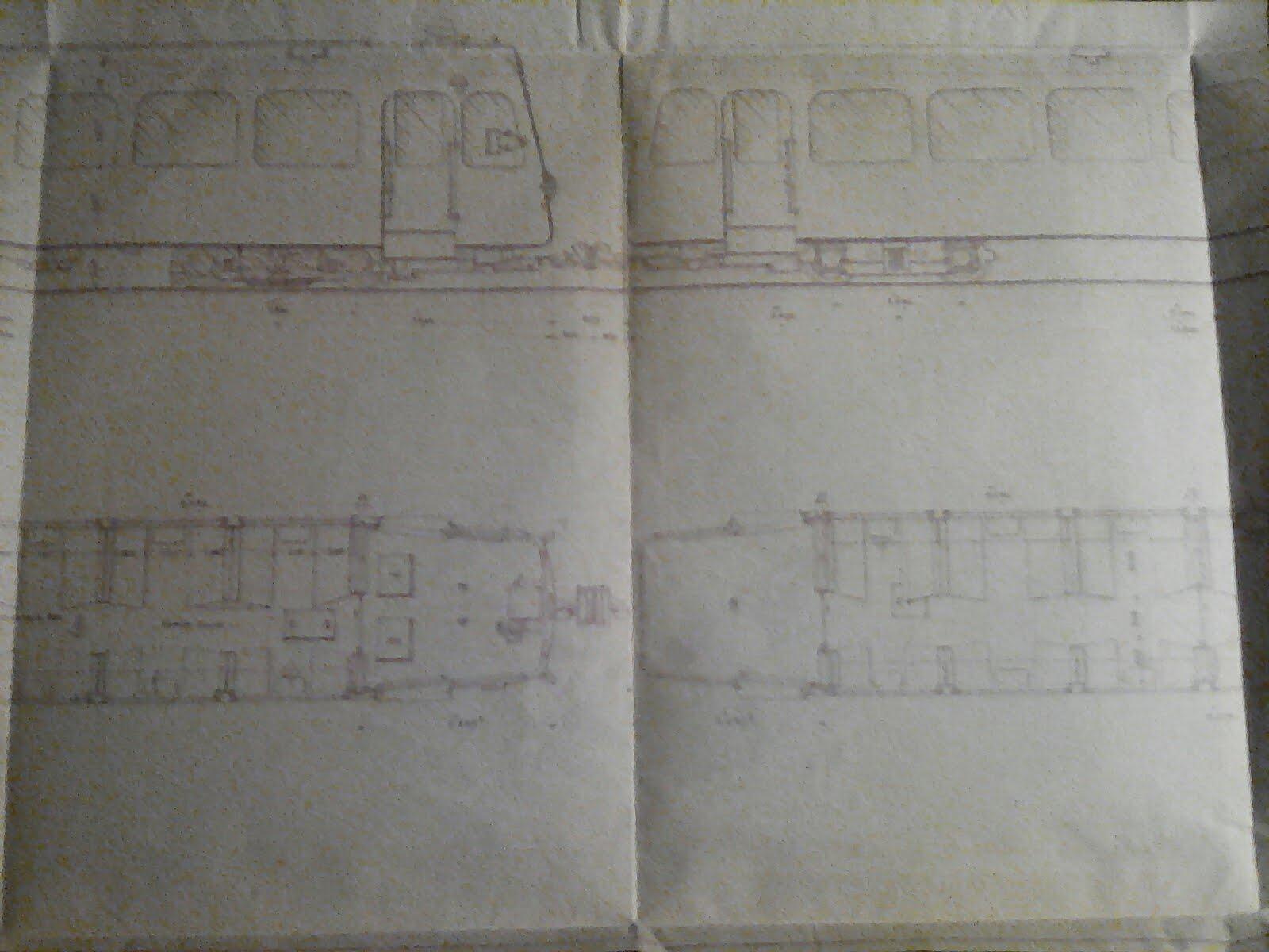 وثيقة فرنسية لتصميم قطار قديم للبيع/French document for the design of an old train for sale