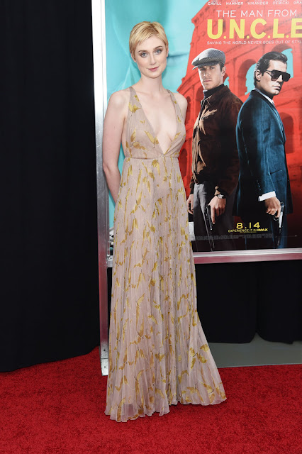 "Actress @ Elizabeth Debicki - New York premiere of ""The Man From U.N.C.L.E."""