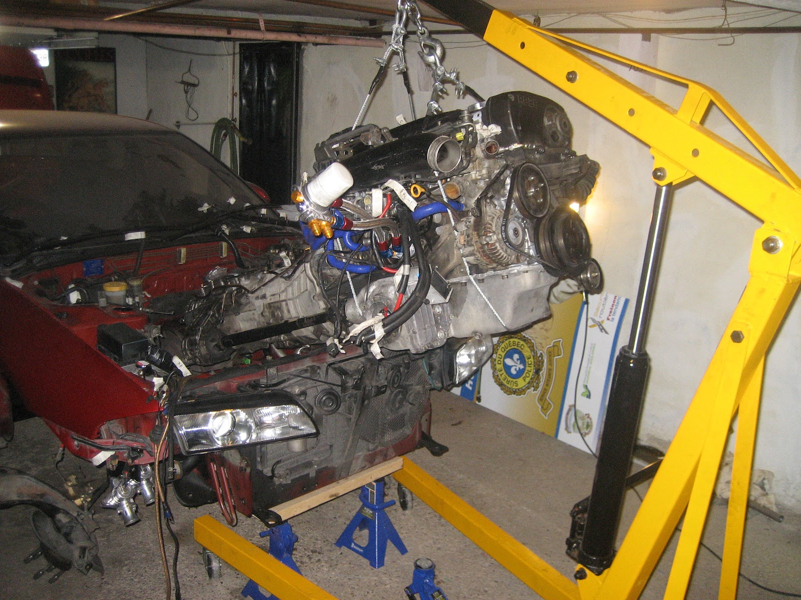 Nissan Rb26 Engine Removal Guide Pulling The Motor Out Of A Gtr Skyline R33 Wiring Diagram An From Car