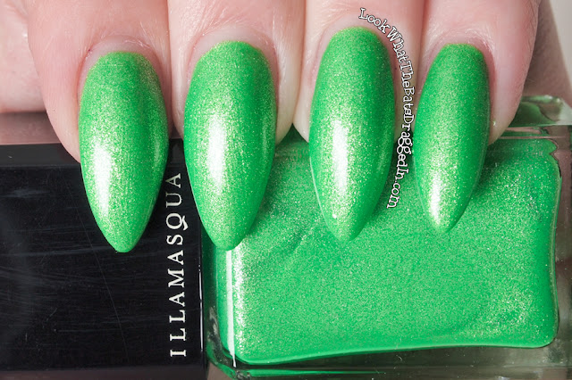 Illamasqua Paranormal Omen nail polish collection swatch UV glow