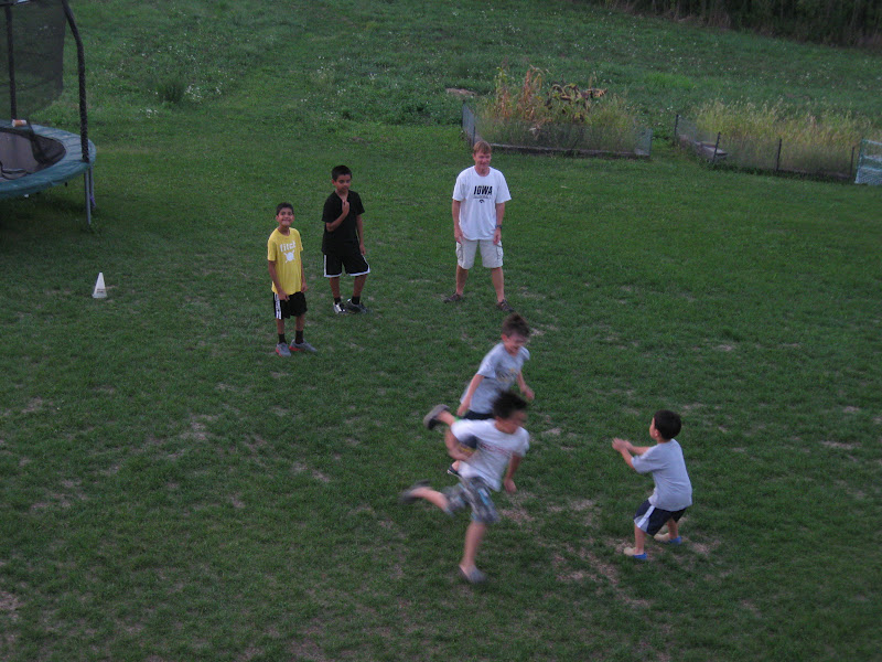 kids playing backyard football now it is time to play some