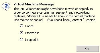 ESXi, pregunta sobre moved y copied