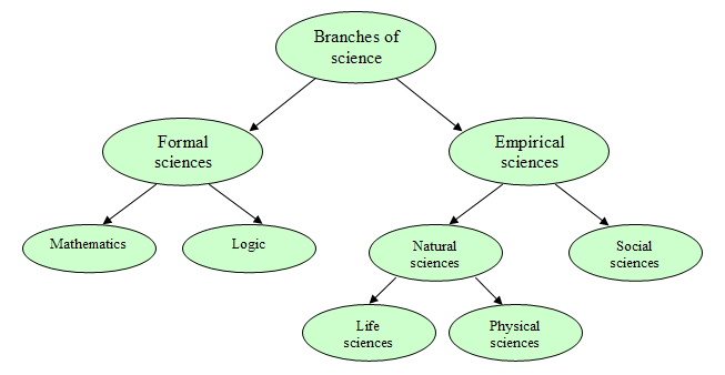 Branches of science diagram