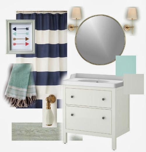 Mood Board Navy And Mint Bathroom Little House Of Four Creating A Beautiful Home One