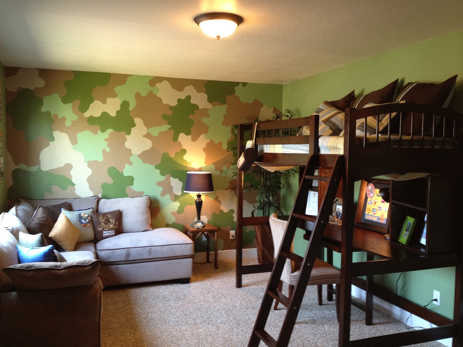 The habitual designer re vamp your kids camp for for Camo kids bedroom ideas