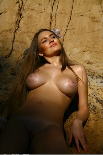 Big Boobs Sanya Nude In Forest