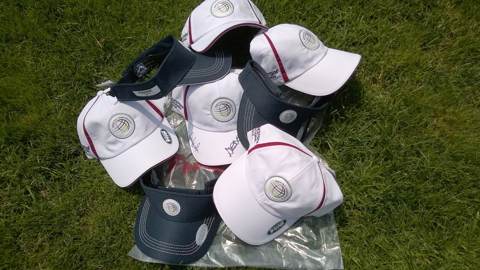 Every day this week I'll be giving away WGC-Bridgestone caps or visors to one my twitter followers. We'll have four total winners, one each day Monday ...