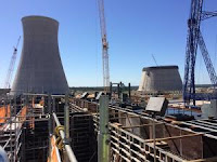 The view of Plant Vogtle expansion from the highest point of Unit 3's Turbine Island (Credit: chronicle.augusta.com) Click to Enlarge.