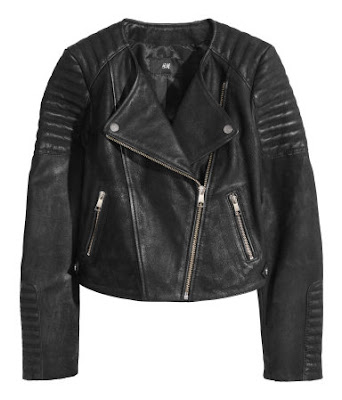 H&M 100% Leather Biker Jacket
