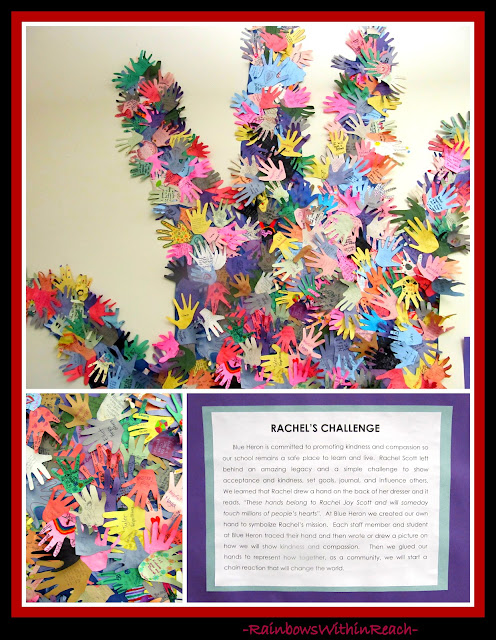photo of: Rachel's Challenge Hand Print Collaboration at Blue Heron Elementary, Littleton CO