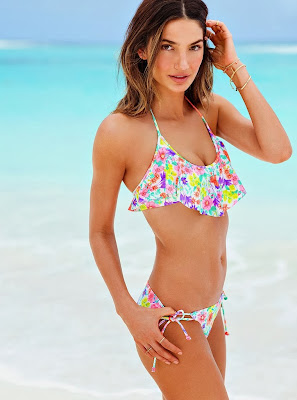 Lily Aldridge Victoria's Secret Swimwear photoshoot